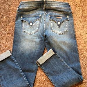 Hudson Women's Sz26 Ginny Crop Straight Cuff Jeans